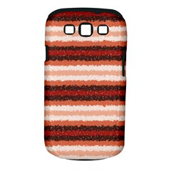 Horizontal Native American Curly Stripes - 1 Samsung Galaxy S III Classic Hardshell Case (PC+Silicone)