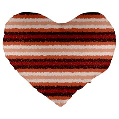Horizontal Native American Curly Stripes - 1 19  Premium Heart Shape Cushion