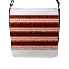 Horizontal Native American Curly Stripes   1 Flap Closure Messenger Bag (large)