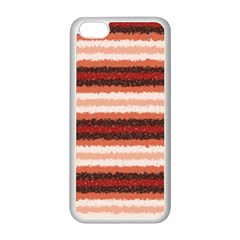 Horizontal Native American Curly Stripes - 1 Apple iPhone 5C Seamless Case (White)