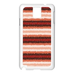 Horizontal Native American Curly Stripes - 1 Samsung Galaxy Note 3 N9005 Case (White)