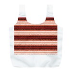Horizontal Native American Curly Stripes - 1 Reusable Bag (L) Front
