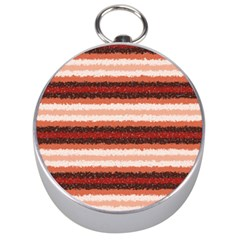 Horizontal Native American Curly Stripes - 1 Silver Compass