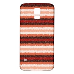 Horizontal Native American Curly Stripes - 1 Samsung Galaxy S5 Back Case (White)