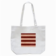 Horizontal Native American Curly Stripes - 1 Tote Bag (White)