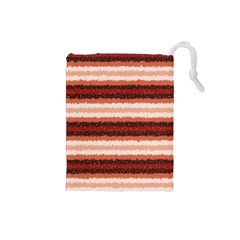 Horizontal Native American Curly Stripes   1 Drawstring Pouch (small)