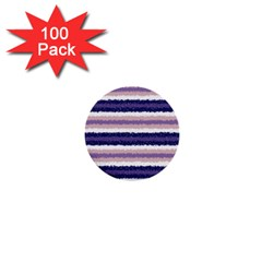 Horizontal Native American Curly Stripes   2 1  Mini Button (100 Pack)