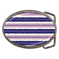 Horizontal Native American Curly Stripes - 2 Belt Buckle (Oval)