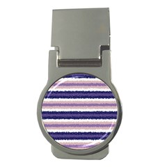 Horizontal Native American Curly Stripes   2 Money Clip (round)