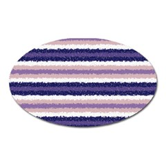 Horizontal Native American Curly Stripes   2 Magnet (oval)