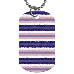 Horizontal Native American Curly Stripes   2 Dog Tag (one Sided)