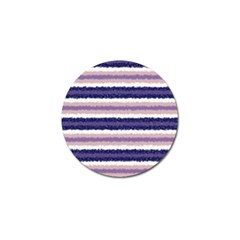 Horizontal Native American Curly Stripes   2 Golf Ball Marker