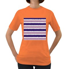 Horizontal Native American Curly Stripes   2 Women s T Shirt (colored)