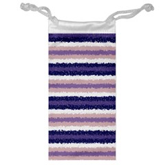 Horizontal Native American Curly Stripes   2 Jewelry Bag