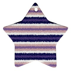 Horizontal Native American Curly Stripes   2 Star Ornament (two Sides)