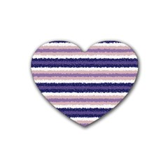 Horizontal Native American Curly Stripes   2 Drink Coasters 4 Pack (heart)