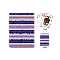Horizontal Native American Curly Stripes   2 Playing Cards (mini)