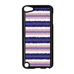 Horizontal Native American Curly Stripes   2 Apple Ipod Touch 5 Case (black)