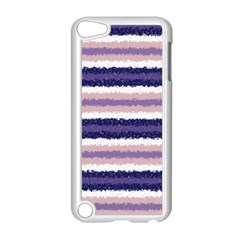 Horizontal Native American Curly Stripes   2 Apple Ipod Touch 5 Case (white)