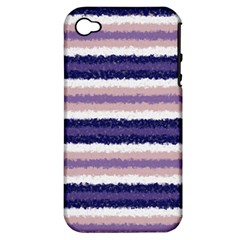 Horizontal Native American Curly Stripes   2 Apple Iphone 4/4s Hardshell Case (pc+silicone)