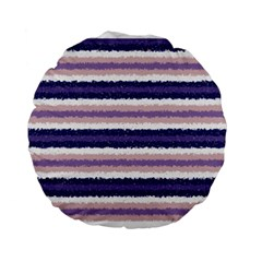 Horizontal Native American Curly Stripes   2 15  Premium Round Cushion