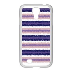 Horizontal Native American Curly Stripes   2 Samsung Galaxy S4 I9500/ I9505 Case (white)