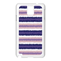 Horizontal Native American Curly Stripes - 2 Samsung Galaxy Note 3 N9005 Case (White)