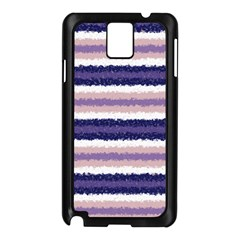 Horizontal Native American Curly Stripes - 2 Samsung Galaxy Note 3 N9005 Case (Black)