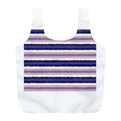 Horizontal Native American Curly Stripes   2 Reusable Bag (l)