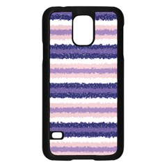 Horizontal Native American Curly Stripes - 2 Samsung Galaxy S5 Case (Black)