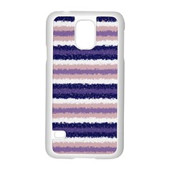 Horizontal Native American Curly Stripes - 2 Samsung Galaxy S5 Case (White)