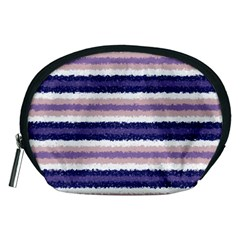 Horizontal Native American Curly Stripes - 2 Accessory Pouch (Medium)