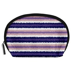 Horizontal Native American Curly Stripes   2 Accessory Pouch (large)