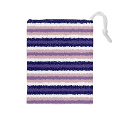 Horizontal Native American Curly Stripes - 2 Drawstring Pouch (Large)