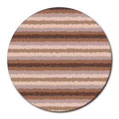 Horizontal Native American Curly Stripes   3 8  Mouse Pad (round)