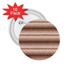 Horizontal Native American Curly Stripes   3 2 25  Button (10 Pack)