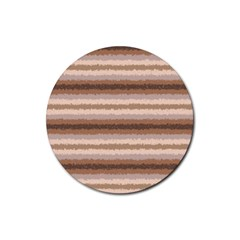 Horizontal Native American Curly Stripes   3 Drink Coaster (round)