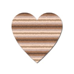 Horizontal Native American Curly Stripes   3 Magnet (heart)