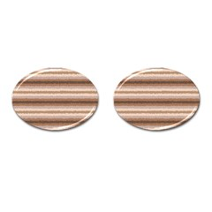 Horizontal Native American Curly Stripes   3 Cufflinks (oval)