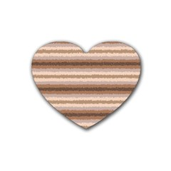 Horizontal Native American Curly Stripes   3 Drink Coasters 4 Pack (heart)