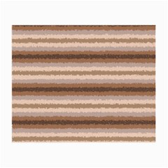 Horizontal Native American Curly Stripes   3 Glasses Cloth (small, Two Sided)