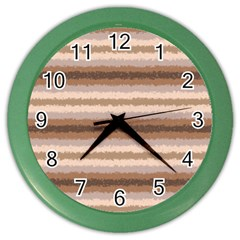 Horizontal Native American Curly Stripes   3 Wall Clock (color)