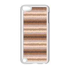 Horizontal Native American Curly Stripes - 3 Apple iPod Touch 5 Case (White)