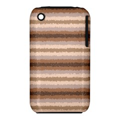 Horizontal Native American Curly Stripes - 3 Apple iPhone 3G/3GS Hardshell Case (PC+Silicone)