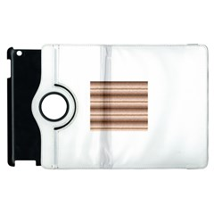 Horizontal Native American Curly Stripes   3 Apple Ipad 2 Flip 360 Case