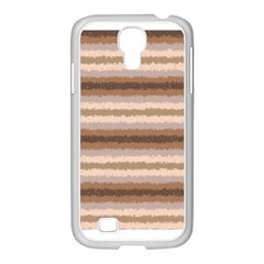 Horizontal Native American Curly Stripes - 3 Samsung GALAXY S4 I9500/ I9505 Case (White)