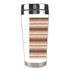 Horizontal Native American Curly Stripes - 3 Stainless Steel Travel Tumbler