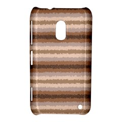 Horizontal Native American Curly Stripes - 3 Nokia Lumia 620 Hardshell Case