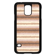 Horizontal Native American Curly Stripes - 3 Samsung Galaxy S5 Case (Black)