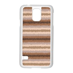 Horizontal Native American Curly Stripes - 3 Samsung Galaxy S5 Case (White)